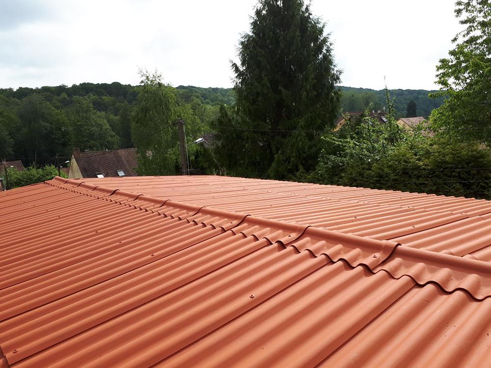 Remplacement de toiture fibro-ciment
